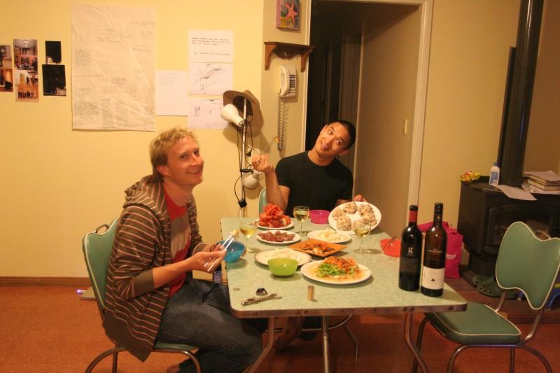 michael and ben feast in beachport